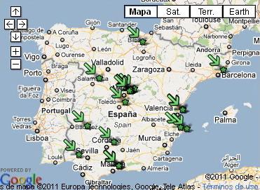 Mapa - La Noche Más Corta Más Larga de Juegos 2011